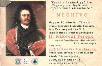II. Rákóczi Ferenc emlékkonferencia
