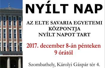 NYÍLT NAP -- ELTE Savaria Egyetemi Központ