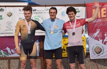 Sándor Tamás kerékpáros időfutam MEFOB-győztes