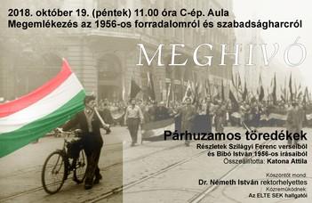 Megemlékezés az 1956-os forradalomról és szabadságharcról