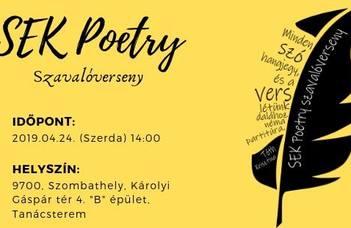 SEK Poetry szavalóverseny
