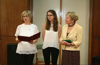 Szalai Dóra kapta a Dr. Bariska Mihály-díjat