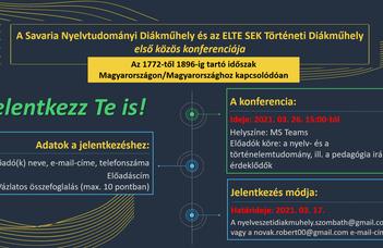 A Savaria Nyelvtudományi Diákműhely és az ELTE SEK Történeti Diákműhely első közös konferenciája