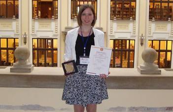 Rozs Dorina az ELTE Természettudományi Kar Kiváló Hallgatója