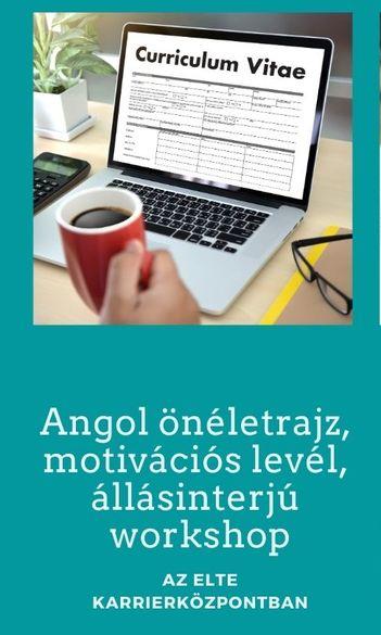 Angol önéletrajz, motivációs levél, állásinterjú komplex workshop