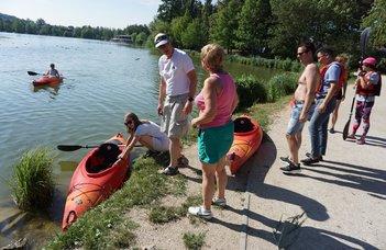 Eszkimókat megszégyenítően kajakoztak a Csónakázótavon