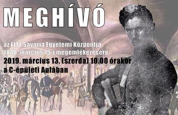 Megemlékezés az 1848. március 15-ei forradalomról